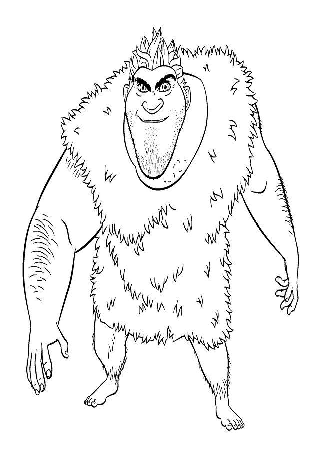 Personajes De Los Croods Para Colorear Dibujos Faciles Para Dibujar Dibujos Para Colorear Paginas Para Colorear