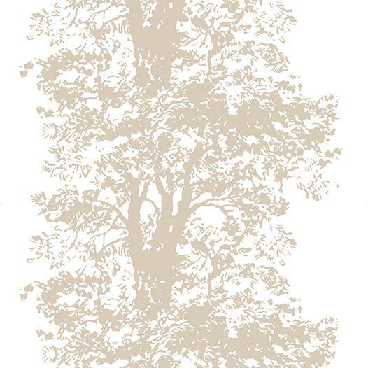 Design: EKEN (metallic champagne)  Designer: Teija Bruhn (Finnland/Sweden)    Manufacturer: Arvidssons Textil Composition: 100% Cotton Width: 150 cm    Repeat: 91 cm