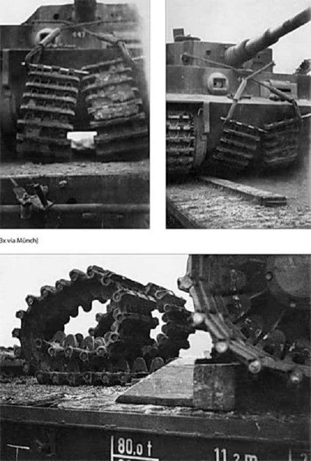 Ezek a harci pályák, amelyek helyébe a vasúti közlekedés vágányokon a tank, minden Tigris tank szükség kétféle pálya, egy sor vasúti mozgás és egy rész runninng a földön.