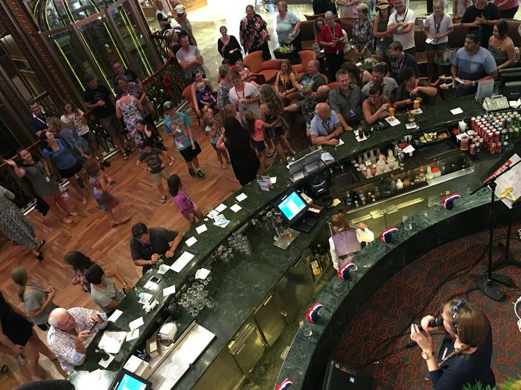 View from above the bar/stage