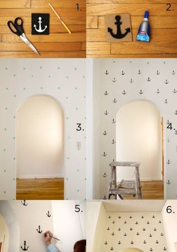 how to stencil wall