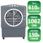 1062 CFM 3-Speed Portable Evaporative Cooler for 610 sq. ft., Grey