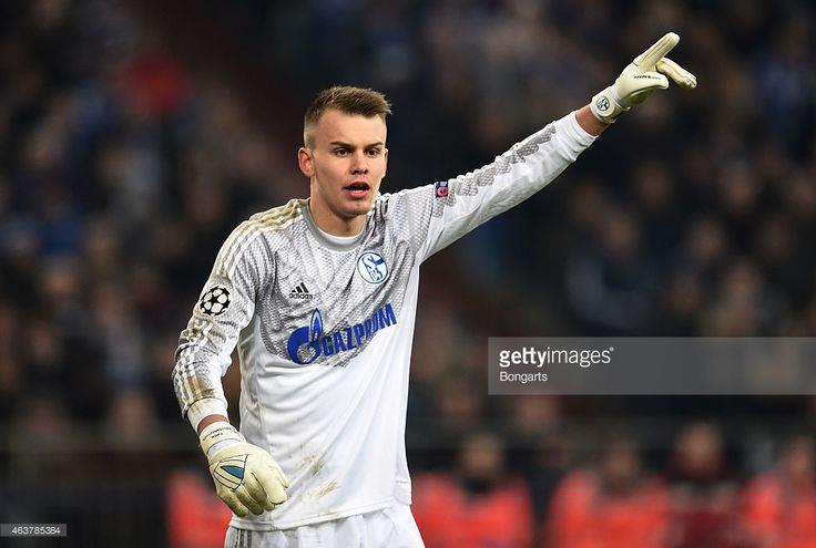 Timon Wellenreuther of Schalke gestures during the UEFA Champions League Round of 16 match between FC Schalke 04 and Real Madrid at the Veltins-Arena on February 18, 2015 in Gelsenkirchen, Germany.