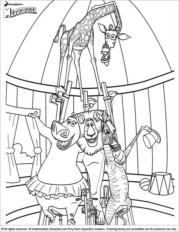 madagascar coloring picture  wenn du mal buch lustige
