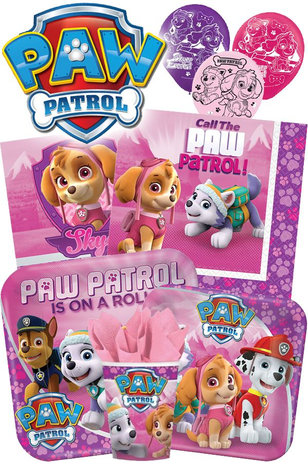 Check out our entire selection of Paw Patrol Girl party supplies! From licensed tableware and decorations to temporary tattoos, you can find everything at HardtoFindPartySupplies.com! #PawPatrol #PartyIdeas