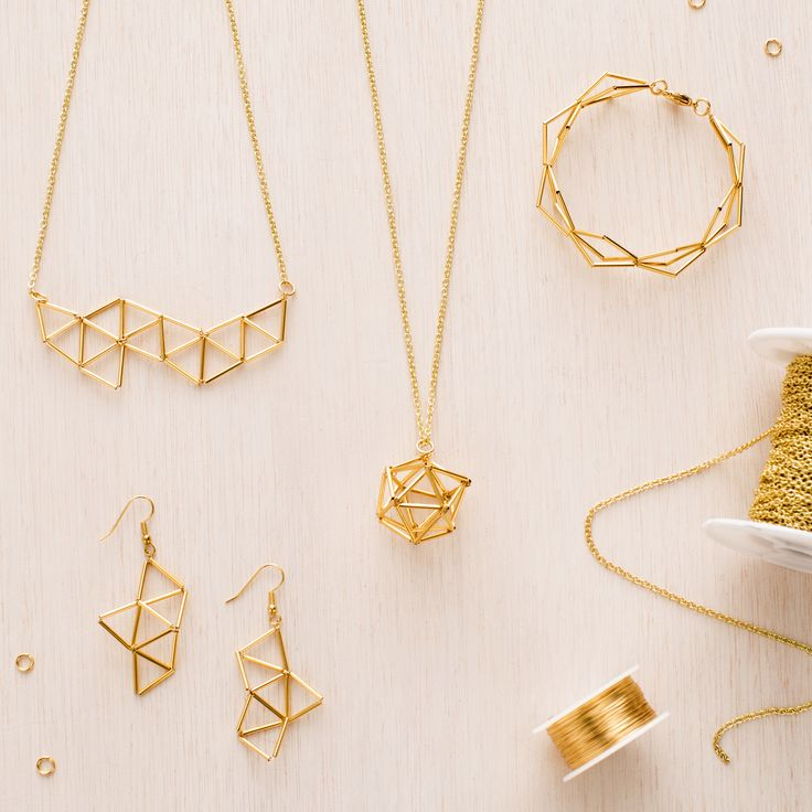 Geometric Jewelry Kit | Brit + Co. Shop | DIY Online classes, DIY kits and creative products from makers you'll love.