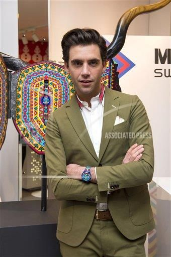 Mika Launch of Mika designed Swatch Watches, London, Britain - 26 Nov 2013
