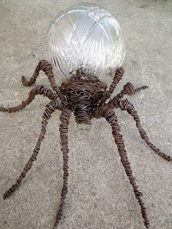 Outlandish Vintage Glass and Barbed Wire Spider by thedustyraven, $95.00