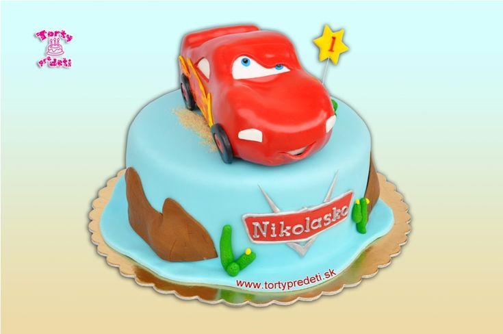 Torta Auto McQueen, torta na 1 rok, torty Žilina.