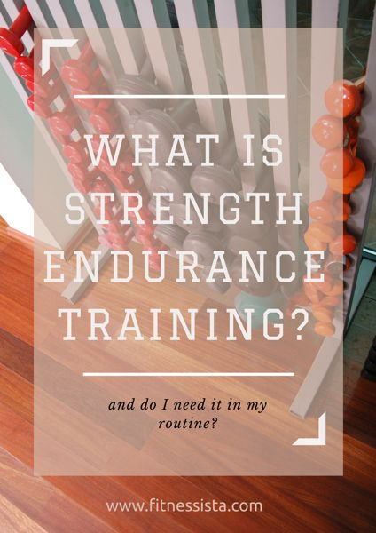 Reader's request: What's the difference between traditional strength training and endurance training?