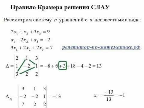 Решение систем линейных уравнений, методы решения, примеры. Репетитор по скайпу, г. Москва осуществляет подготовку к сдаче ГИА и ЕГЭ, а также участию в городских и региональных олимпиадах