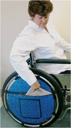 Wheel Pouch for Wheelchair Wheelchairs http://www.amazon.co.uk/dp/B001375572/ref=cm_sw_r_pi_dp_atTmvb1EC3E5M