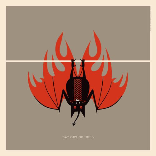 """#Meatloaf's """"Bat Out of Hell""""   An Illustrated Guide To Every Animal In Rock Music   Co.Design   business + design"""