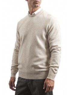 Great and British Knitwear Men's 100% Lambswool Plain Crew Neck Jumper