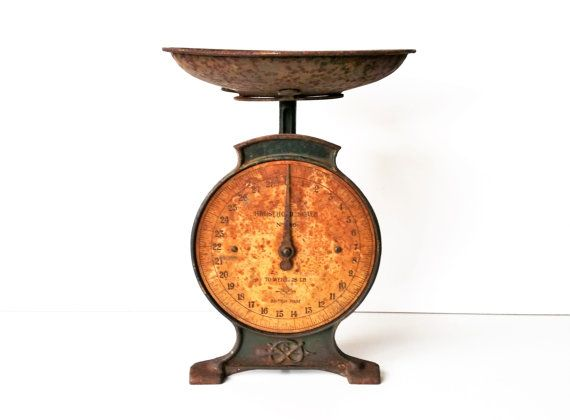 Salter kitchen scale vintage weighing scales rustic for Rustic kitchen scale