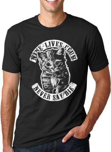 Nine Lives Club kitten mens tee $17 #tee #men #fashion #tshirt #kitten #cat #printed