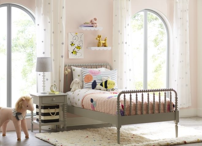 Jenny Lind Grey Twin Bed Reviews Crate And Barrel Girls