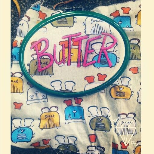 Embroidered butter by Pickles LaVey