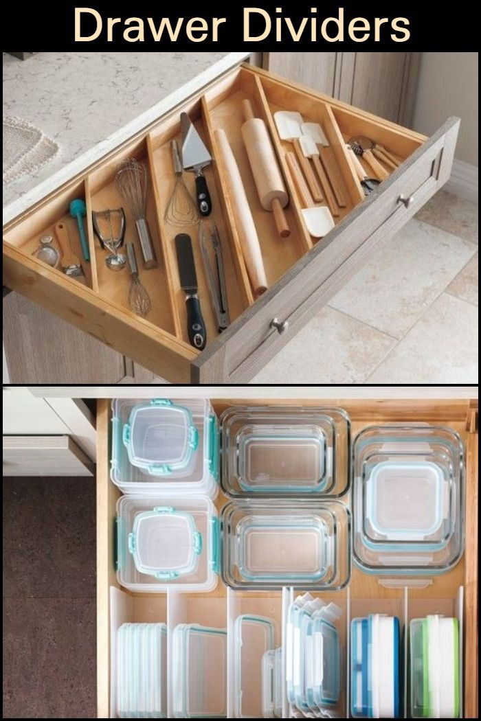 Organize And Use Your Kitchen Drawers Efficiently With These Adjustable Dividers Kitchen Organization Kitchen Hacks Organization Kitchen Organization Diy
