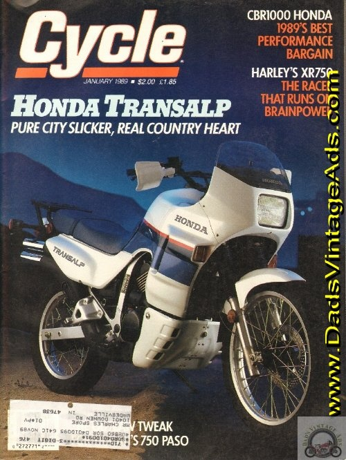 1989 Honda XL600V Transalp – pure city slicker, real country heart