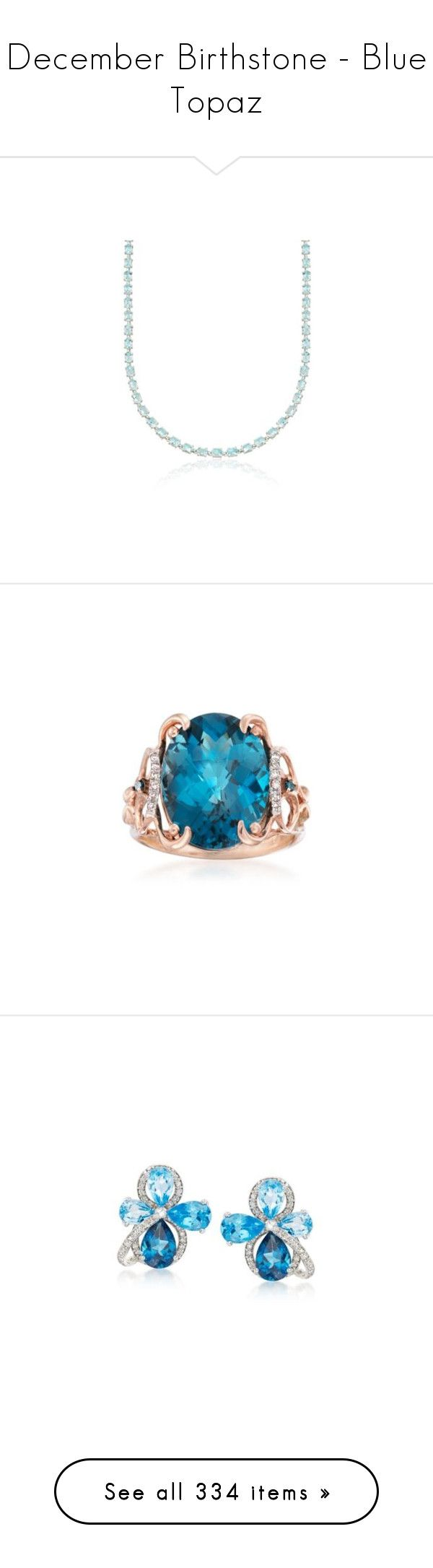 """December Birthstone - Blue Topaz"" by rosssimons ❤ liked on Polyvore featuring jewelry, necklaces, sterling silver jewellery, birthday necklace, sterling silver jewelry, birthday jewelry, sterling silver necklace, rings, oval london blue topaz ring and oval ring"