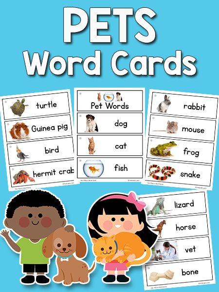 Dieser Satz bedruckbarer Haustier-Bild-Wortkarten enthält 18 Wörter zum Thema Haustier: Hund …   – school ideas