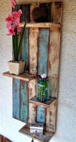 repisa estante madera decapada muy rustica. biombo marcos