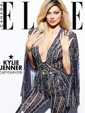 Who made  Kylie Jenner's silver jumpsuit that she wore on the cover of Elle magazine?
