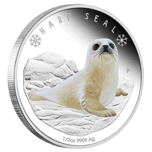 Buy Now: http://goccf.com/pm/polar-babies-harp-seal-2017-half-oz-silver-proof-coin  Perth Mint New Release: Polar Babies - Harp Seal 2017 1/2oz Silver Proof Coin - Coin Community Forum