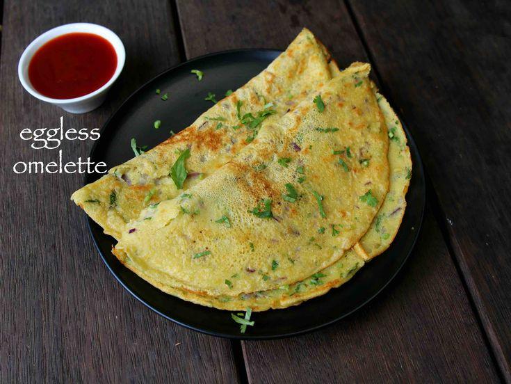 eggless omelette recipe, vegetable omelette recipe, veggie omelette with step by step photo/video. a vegetarian alternate to popular egg omelette recipe.