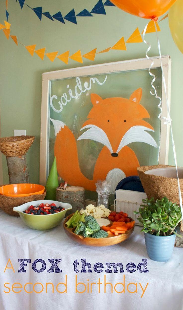Fox themed birthday party
