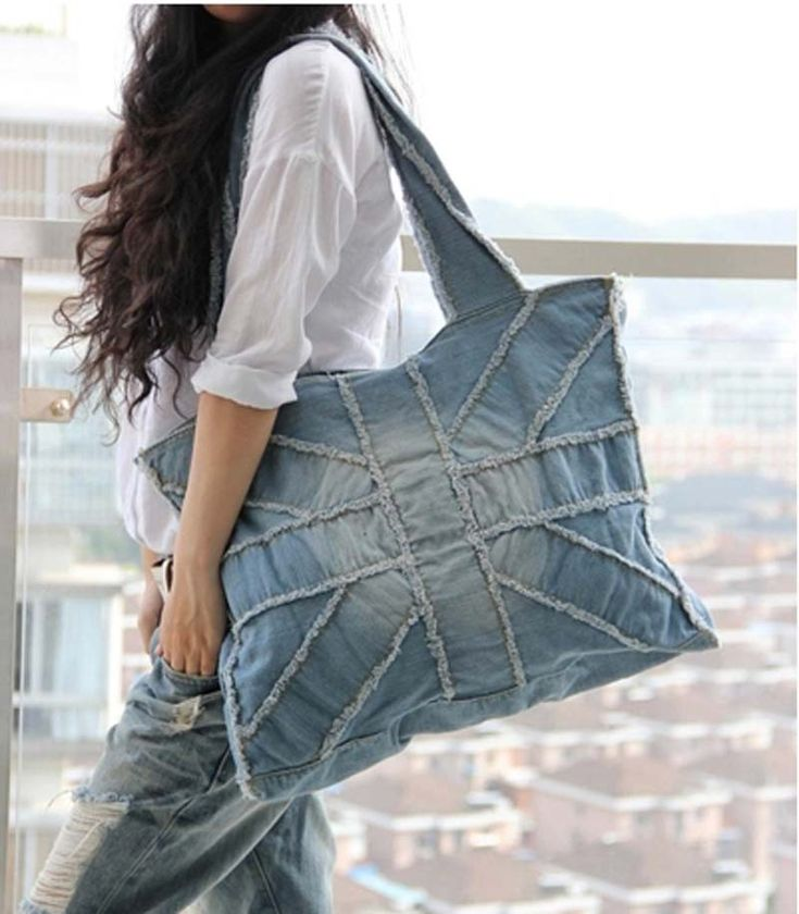 Aliexpress.com : Buy 2014 Bolsa Jeans Handbags For Women Motorcycle Color Block Vintage One Shoulder Big Torx Denim Bags Jeans Bag Blue/Blac...
