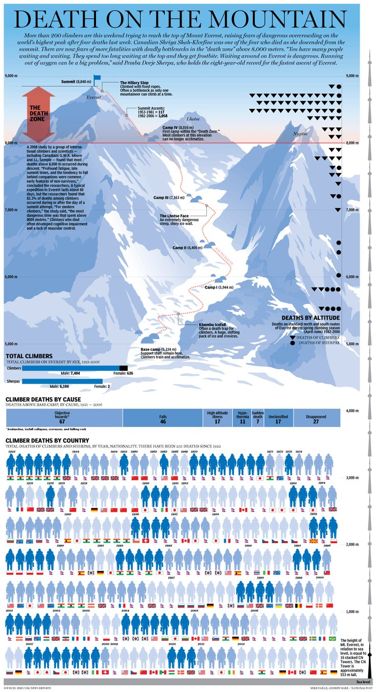 Mount Everest death toll graphic: A chronicle of all of the lives claimed by the world's tallest point   National Post