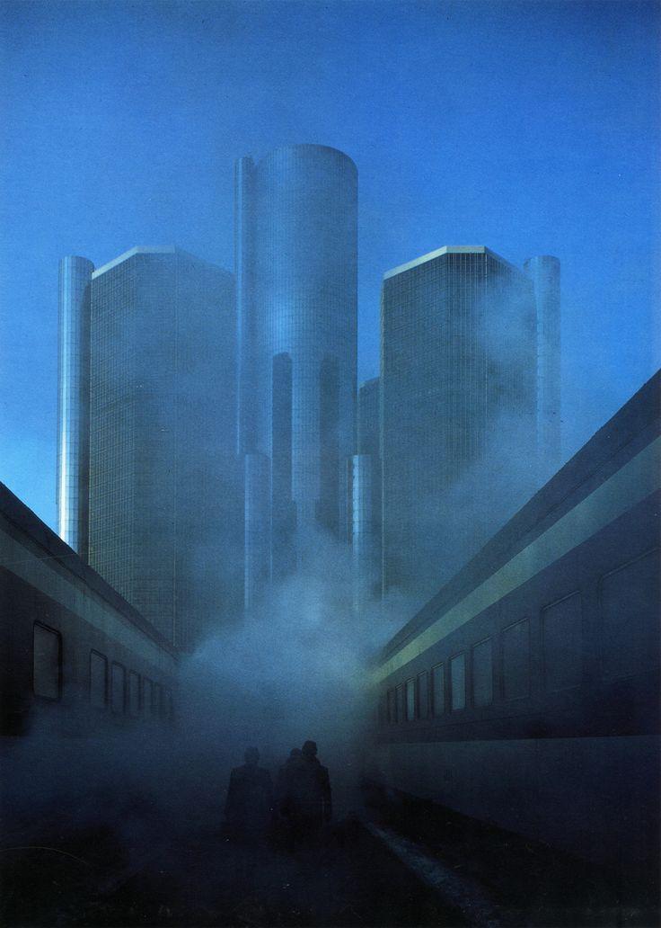 John Portman, Renaissance Center, Detroit, Michigan, 1973-1977