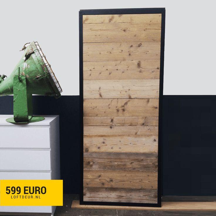 Schuifdeur steigerhout met staal schuifdeur pinterest met - Schuifdeur deur ...