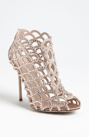 Sergio Rossi Mermaid Caged Sandal by Janny Dangerous #sergiorossisandals #sergiorossimermaid