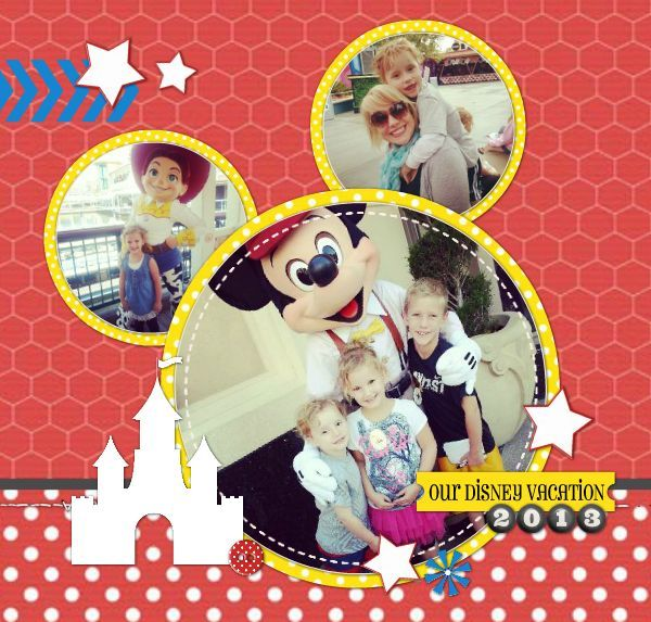 Disneyland Photobook #disneyland #scrapbook #digitalscrapbooking #photobook #mickeymouse