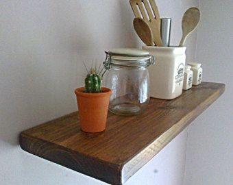 Keuken drijvende muur plank / planken - Royal Oak natuurlijke Wax - ** gratis VK levering **