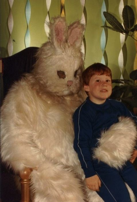 scary easter bunny costume photo ugly