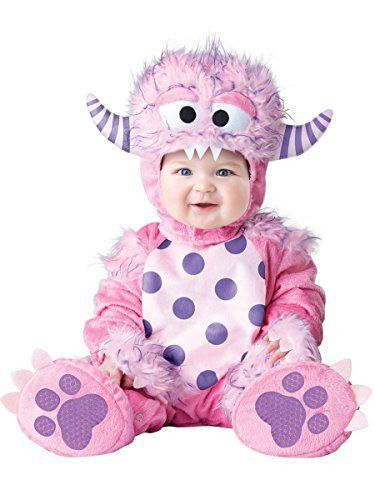 Baby Girls' Lil' Monster Costume, Pink, Small 6-12 months