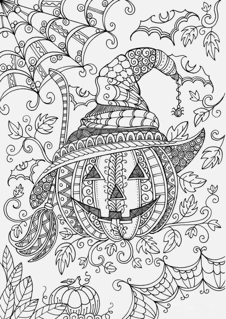 Spooky colouring: just print it and get the Halloween mood