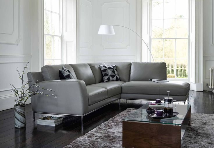 Furniture Village Aylesbury lhf leatherlux corner sofa with chaise end - linea - gorgeous