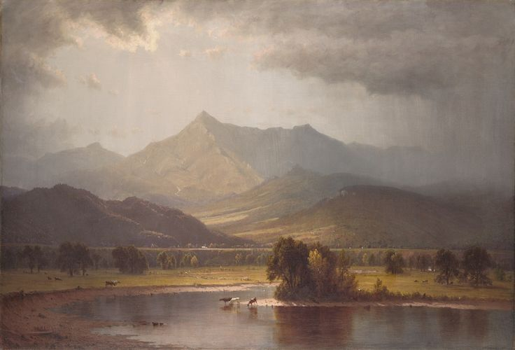 Sanford Robinson Gifford (1823-1880)  A Passing Storm in the Adirondacks, 1866  Oil on canvas  37 1/4 x 54 1/4 in. (94.6 x 137.8 cm)  Bequest of Elizabeth Hart Jarvis Colt,  1905.23