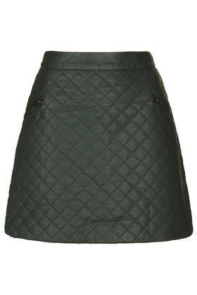 Forest Quilted Aline Skirt