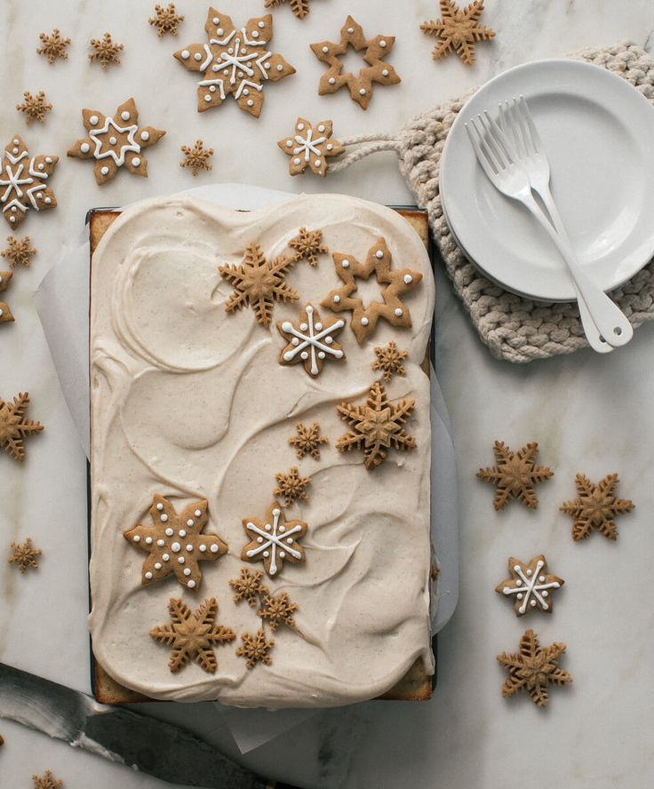 Brown Butter Pecan Snacking Sheet Cake with Spiced Cream Cheese Frosting – A Cozy Kitchen