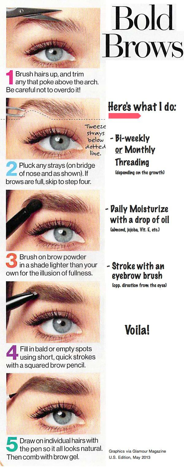 How to get the bold brow? Threading is better for your skin and less expensive.