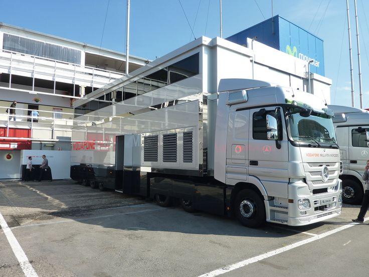 Mercedes Actros Mclaren F1 Racetransporters Pinterest