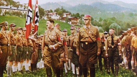 Hitler among the Sturmabteilung -- the paramilitary 'brown shirts.' (Credit: SWNS.com)
