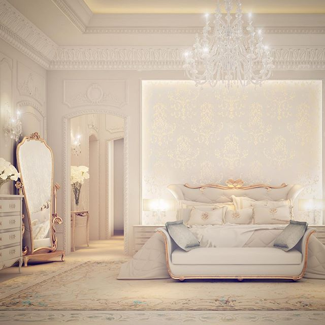 Private Palace interior design | Master bedroom. Residential projects…