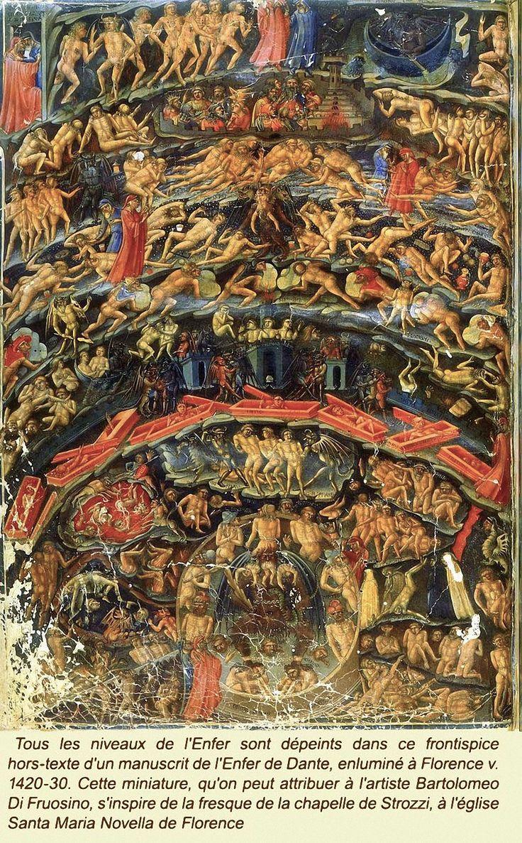 Bartolomeo Di Fruosino, Inferno, circa 1430-35. From the Divine Comedy by Dante (Folio 1v). Bibliothèque Nationale, Paris.